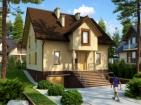 Проект дома с цоколем и мансардой